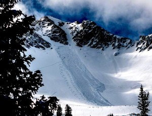 Cardiac Bowl avalanche from yesterday, November 17th. This one could have really caused some damage.  photo-  utah avalanche center